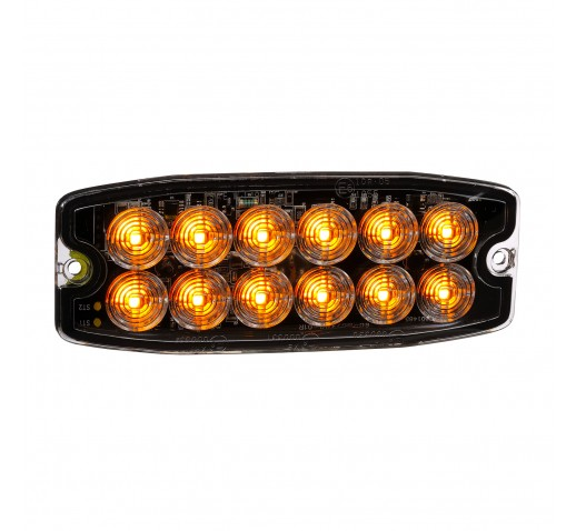 12/24V SUPER SLIM DOUBLE ROW LED SELF CONTAINED WARNING LIGHT