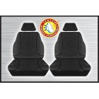 BLACK CANVAS FRONT SEAT COVER PAIR - EVEREST RANGER & BT50