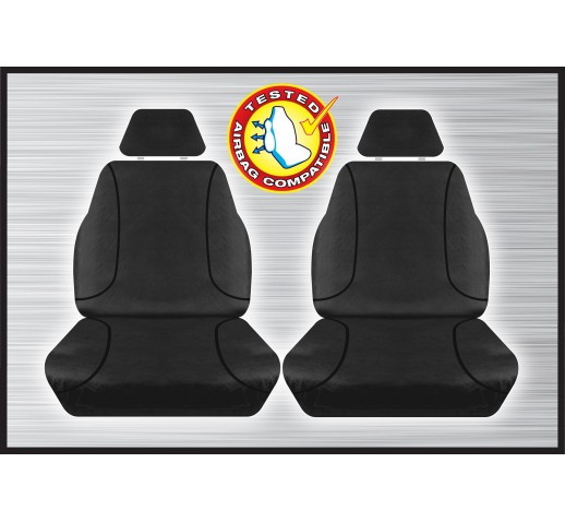 BLACK FRONT CANVAS SEAT COVER - HILUX 07/2015 ONWARD