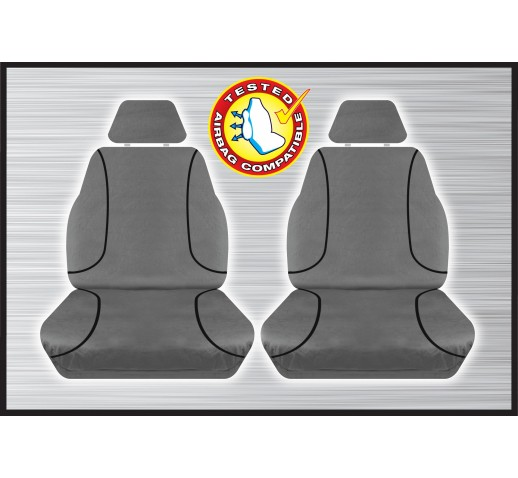GREY CANVAS FRONT SEAT COVER - HILUX 07/2015 ONWARD