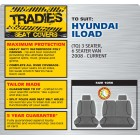 GREY CANVAS FRONT SEAT COVER - ILOAD 2008 ONWARD