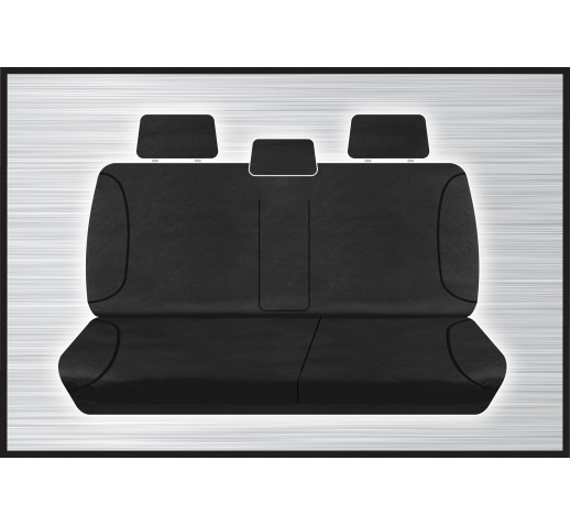 BLACK CANVAS REAR SEAT COVER - DMAX