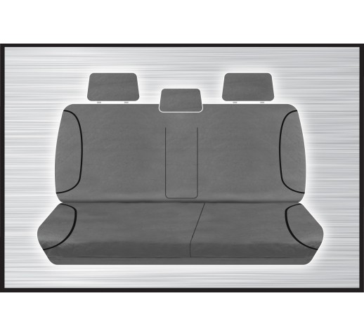 GREY CANVAS REAR SEAT COVER - DMAX