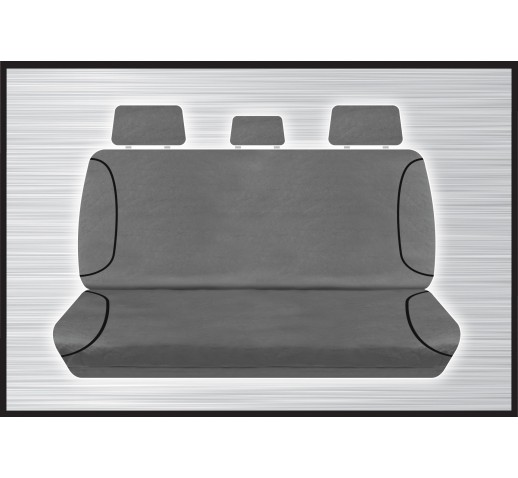 GREY CANVAS REAR SEAT COVER - HILUX
