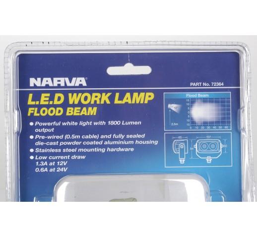 W/LAMP 9-36V 20W LED 1800 LUMENS