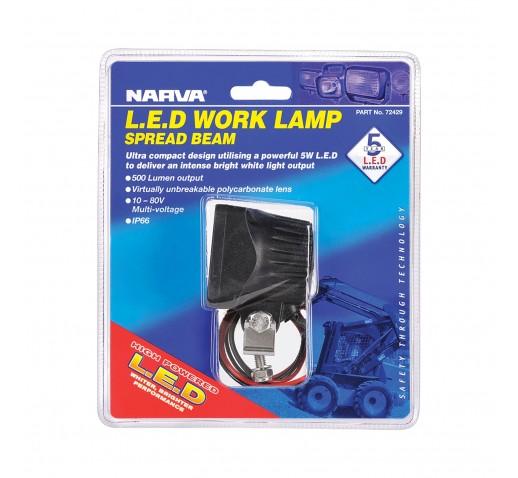 W/LAMP LED 9-80V SPREAD BEAM 500LM
