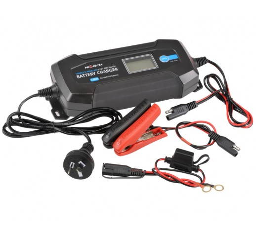 BATTERY CHARGER 4A 6/12V 8 STAGE